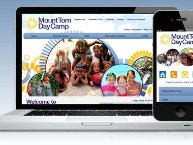 Website: http://m.mounttomdaycamp.com  The site is  coded using HTML5 / CSS3 / jQuery Mobile / PHP. The mobile version is created with same look & feel as that of the main site and is coded using Jquery Mobile. The script is added to handle the mobile detection and redirection to the mobile website.