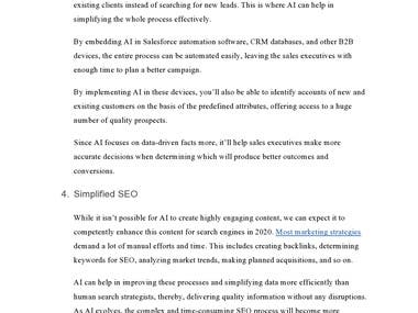 Article writing on B2B marketing that required hyperlinking and extensive research. Informative and eye-catching!