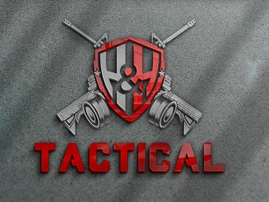 logos of modern firearms and masks for combat. suitable for soldiers who are on a secret mission.