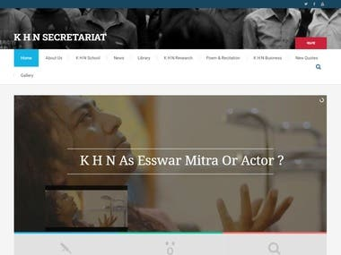 khnsecretariat is a personal/individual website. Mr. Kamrul Hasan Nasim, Bangladeshi citizen has been living in the human civilization who is also a lover of planet at the same time. He is a Theist.  For his personal interest he require a website where he can add his activities to his fan.  I have develop the project by Wordpress. This is very simple and informative website as my client wanted. I tried to make it responsive in every angle.   http://www.khnsecretariat.com/