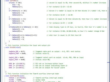 This is a Proteus simulation and c program using Atmel Studio 7.0