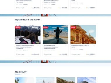 This is a multi vendor travel agency website with custom pages and packages. Tour hotels, room, cars options are available.