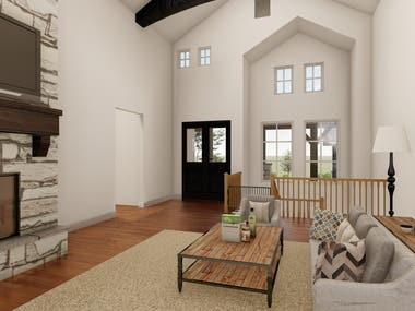 Lumion Rendering for building exterior and interior design.
