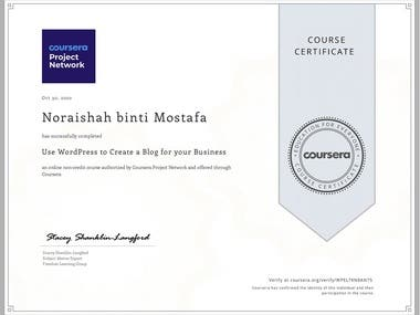 Certificate in Social Media Marketing by Techsprint Introduction to Website Development by University of California, Davies Write Professional Emails in English by Georgia Institute of Technology, USA Microsoft Azure Administrator by Microsoft WordPress to Create Blog for your Business by Coursera Building and Designing Website Workshop by Techsprint