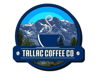 Logo design for a sticker.