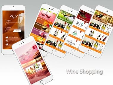 Social Integration(Login/Share function) - Google - Facebook - Twitter  Vuforia / Barcode integration User can get wine information by scanning product image and barcode.  Payment Integration User can buy wine by using Paypal payment.  User can show and search products according to type.
