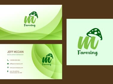 Logo and card design for agriculture business