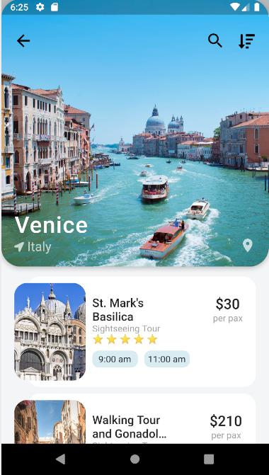 Flutter Travel UI