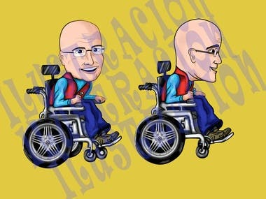 Design and creation of personalized caricatures for individuals, couples and family groups or friends.