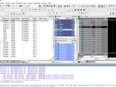 Emulating Processor via VHDL/Verilog.