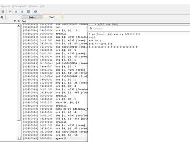 BST tree using MIPS