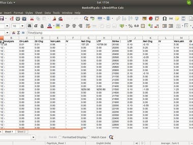 Scrapped a page of Nifty using Selenium and BeautifulSoup and stored the data in excel