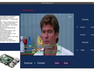 This project is to detect the subtitles on the video stream and convert the detected subtitles to speech to play the sound on Raspberry Pi using the optimized tflite model and kivy framework.