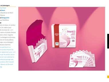 Packaging design for a hormone replacement medicine.