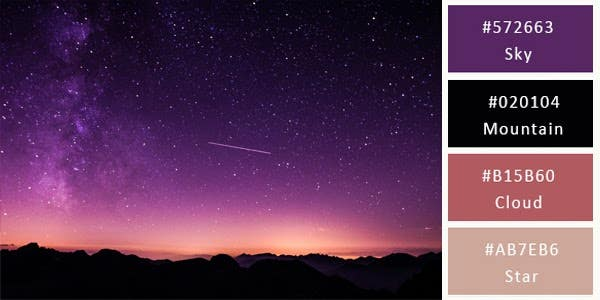 dark and light sultry color combination - stars