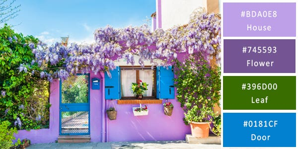 bright color combination - houses
