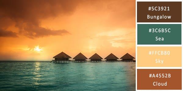 warm color combination - lagoon