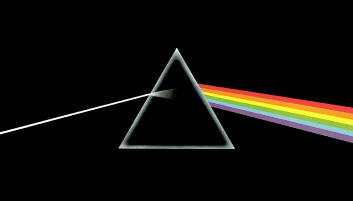 pink floyd dark side of the moon album cover of prism refracting light