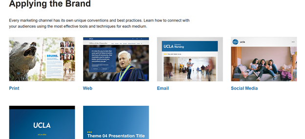 UCLA brand guidelines