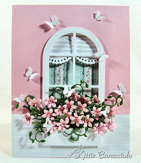 pink house birthday card