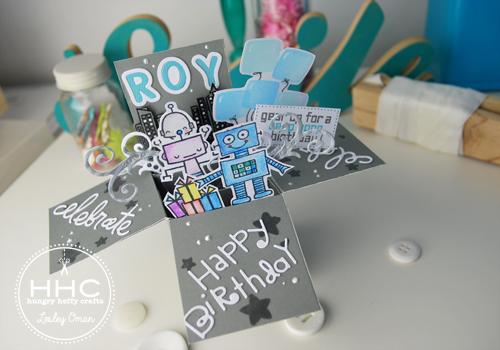 robotics birthday card
