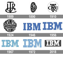 IBM logo through the ages