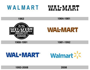 Walmart logo through the ages
