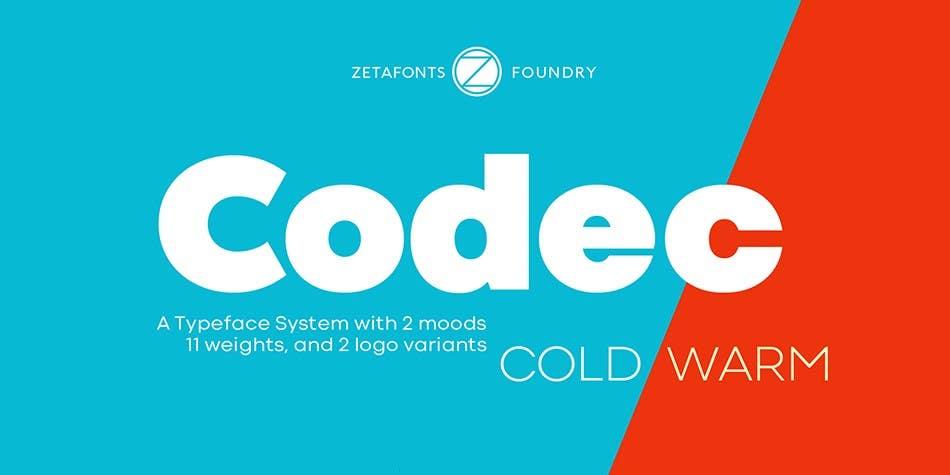 Codec font