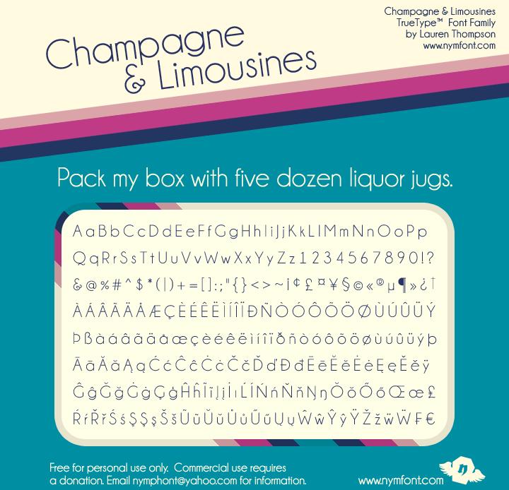Champagne & Limousines font