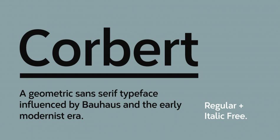 Corbert font
