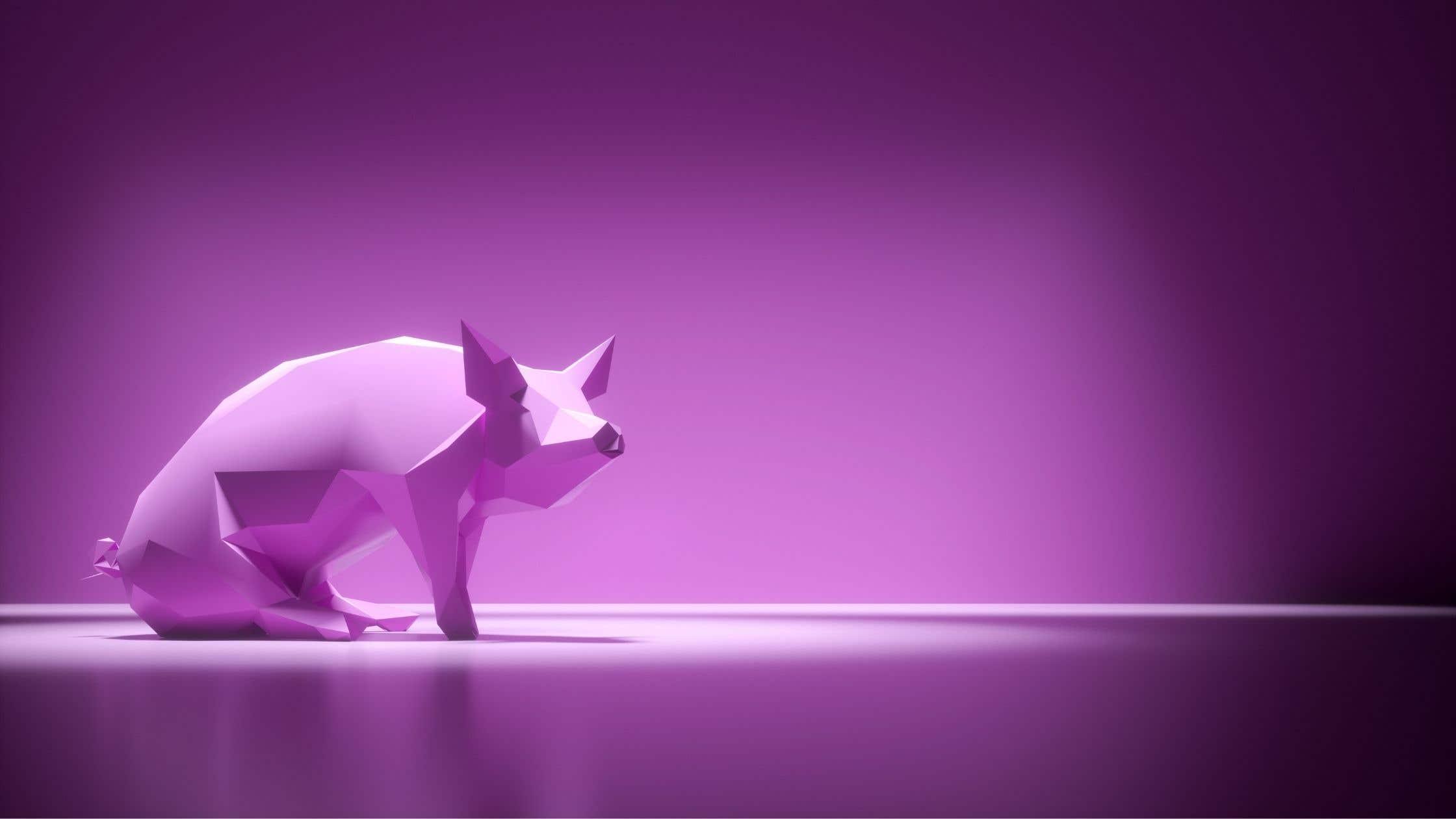 Pig low poly art