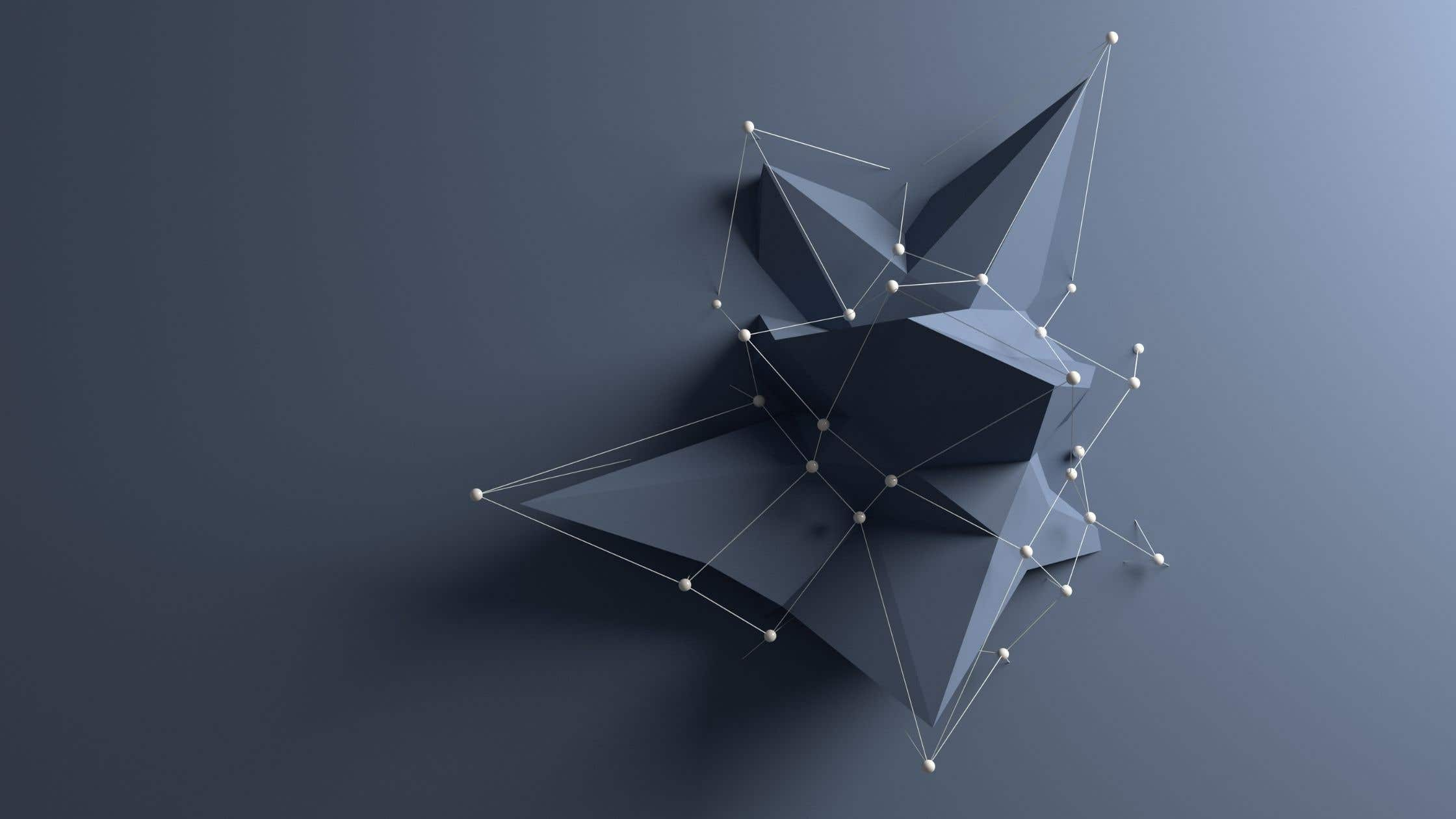 low poly art with dark grey shapes