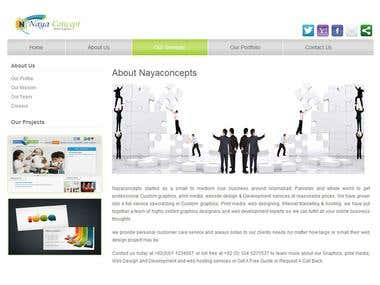 Naya Concept's site developed by me.