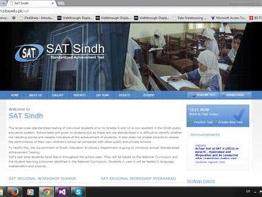 SAT Website, Built in Asp.NET MVC 4, SQL Server 2012