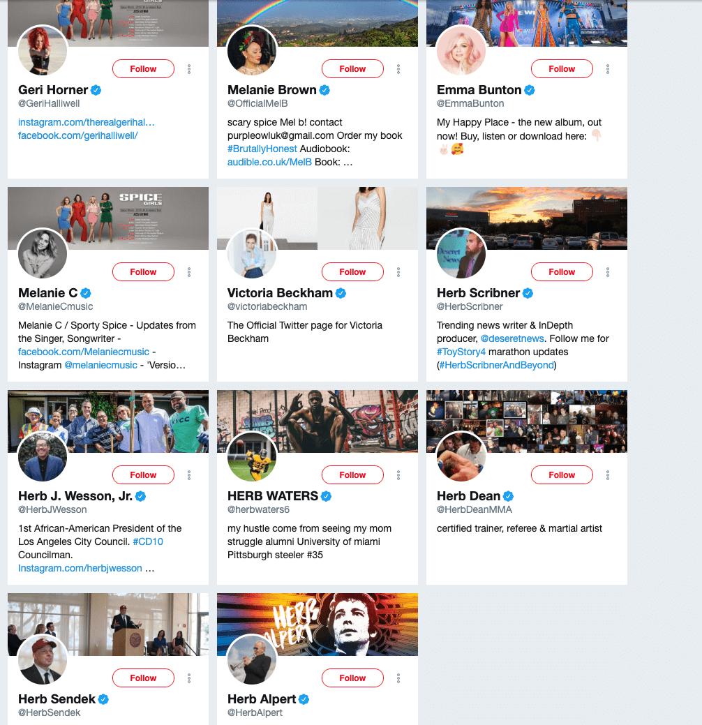 KFC Herbs & Spices twitter followers