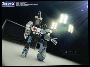 this my simple robot. Model and render in Maya. Concept from google.
