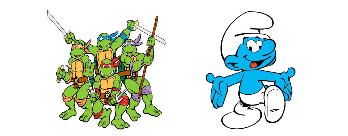 Teenage Mutant Ninja Turtles and The Smurfs
