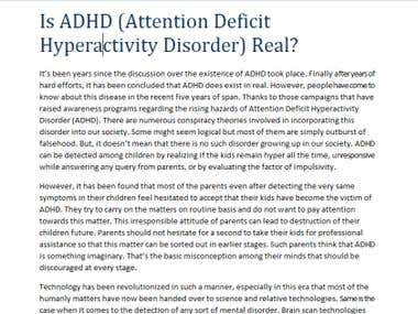 is adhd a real disorder