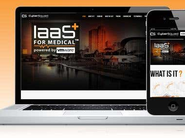 Website: http://iaas.tv  One page Portfolio Website for the Web development firm coded using HTML5 / CSS3 / jQuery / Wordpress.