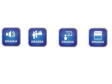 Four Icon design for a software UI