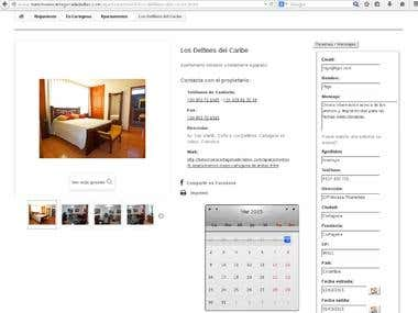 A tourism guide made using Prestashop, customizing product-details page to add a form for online booking.\nProduct information template modified in order to add new fields in database.\nExternal application in php to present a form to add products from outside admin, where the customers can upload the products and the only admin work is to publish these products.