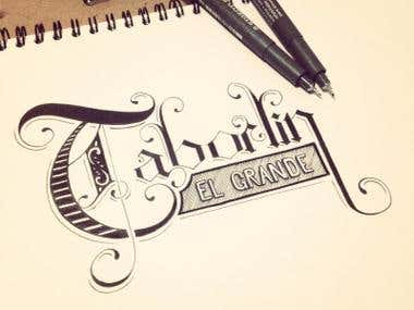 Some traditional works on lettering, I'm able for vector lettering too :)