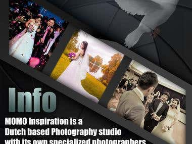 Example flyers for a photography studio