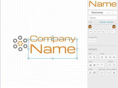 Website to create a logo by yourself, using Snap.svg library, .net C# api, jquery and mysql. All the coding was done by Codware: http://www.freelogodesign.org/