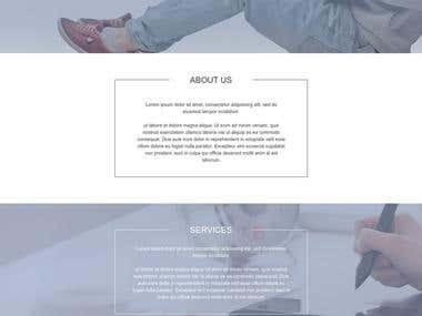 I've converted this simple but yet attractive PSD mockup into HTML/CSS responsive website using Bootstrap 3.