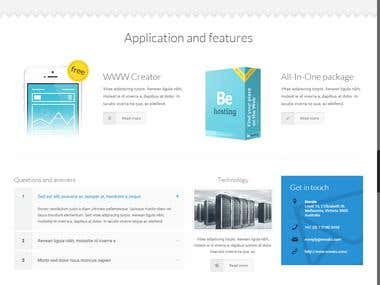 Web development and designing for hosting company