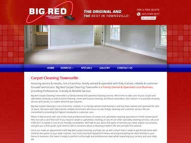 PSD to Bootstrap WordPress Responsive Website developed by me. Site URL : http://www.bigredcarpetcleaningtownsville.com.au/