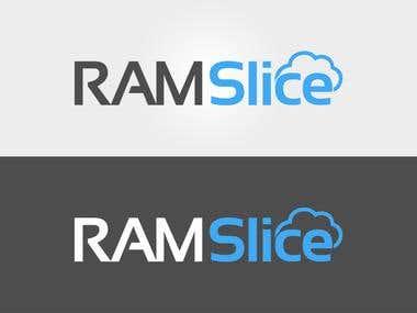 Logo Design for RAM Slice ( Cloud VPS hosting service provider )