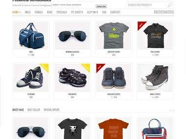A complete E-commerce site, with eye-catching design