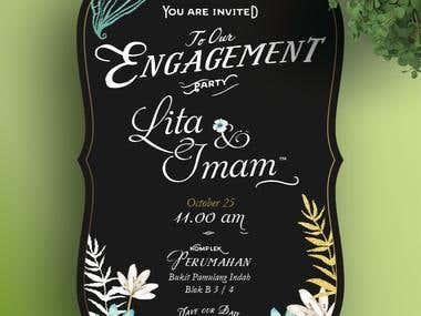 make e-invitation for wedding deliver via email or smartphone